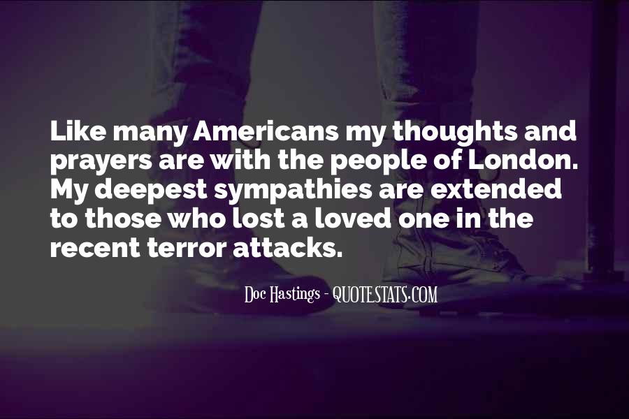You're In Our Thoughts And Prayers Quotes #538918