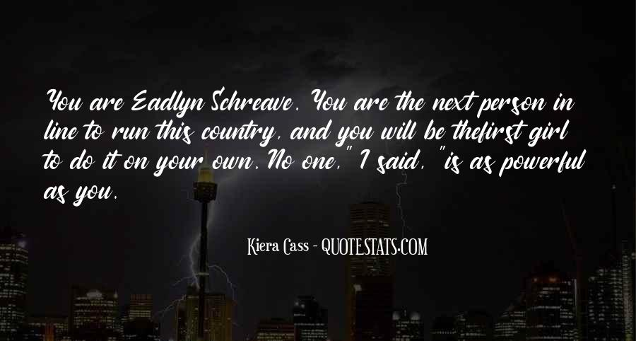 You're The One Girl Quotes #352136