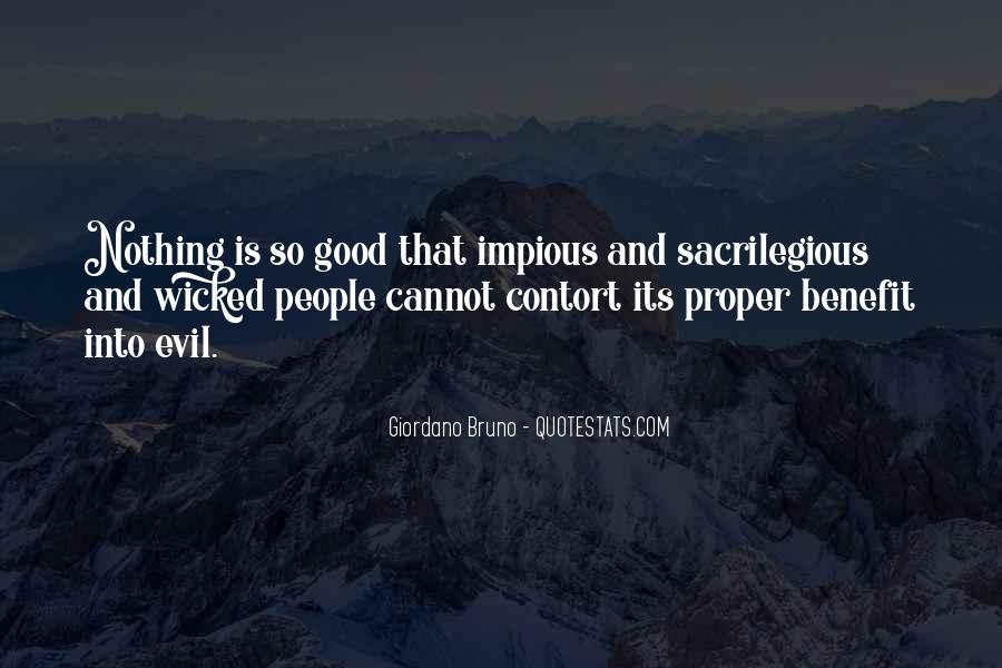 Quotes About Being Evil #16116