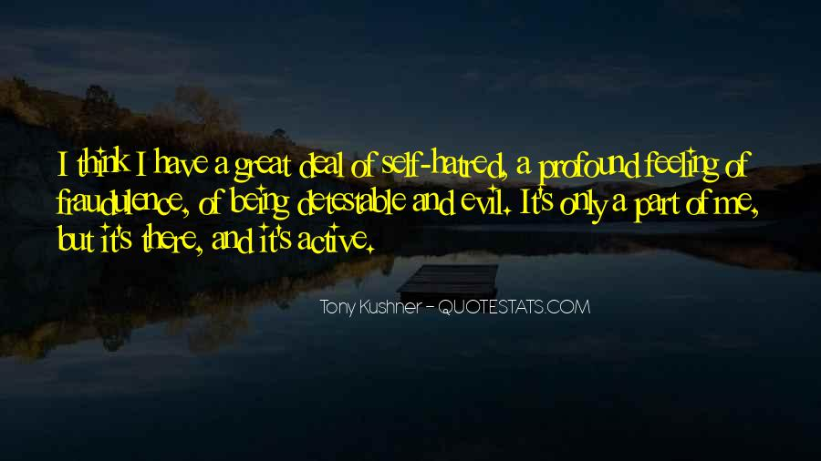 Quotes About Being Evil #7351