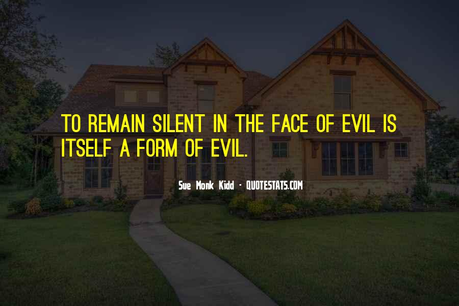 Quotes About Being Evil #7367