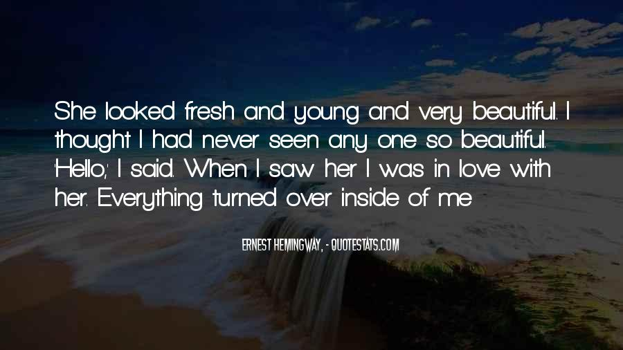 Young And Beautiful Quotes #148226