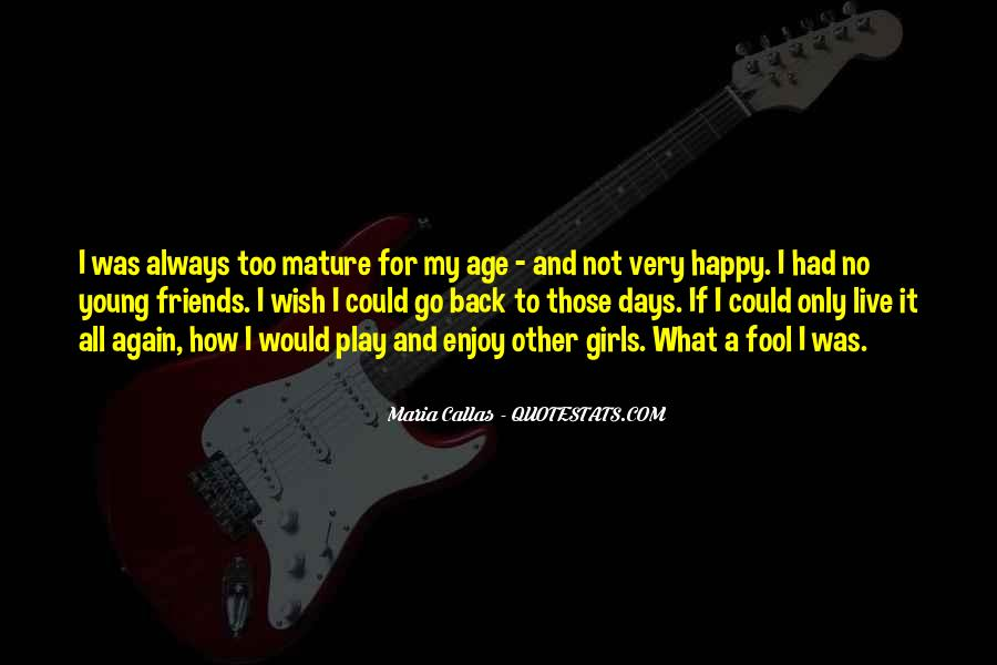 Young And Happy Quotes #376499