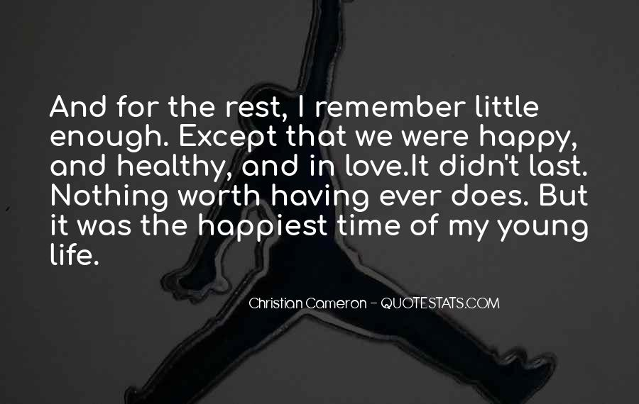 Young And Happy Quotes #553350