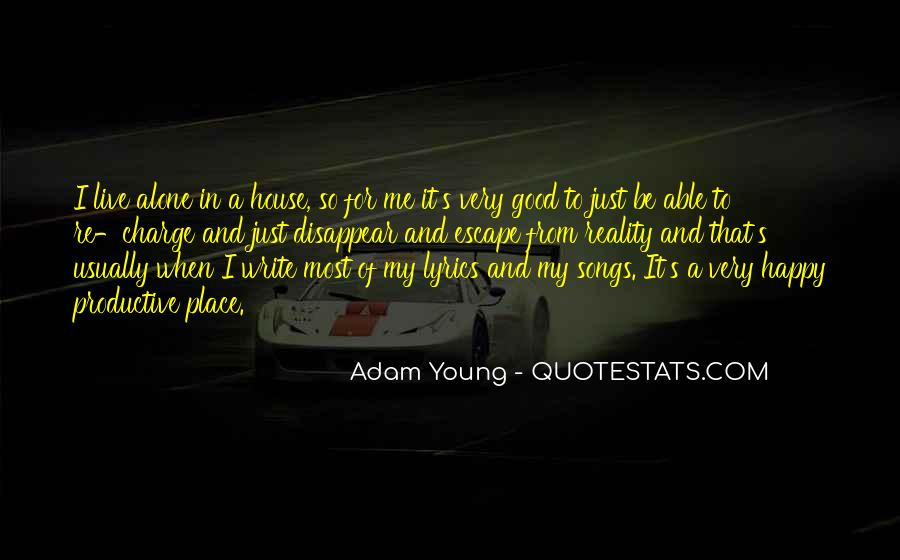 Young And Happy Quotes #955391
