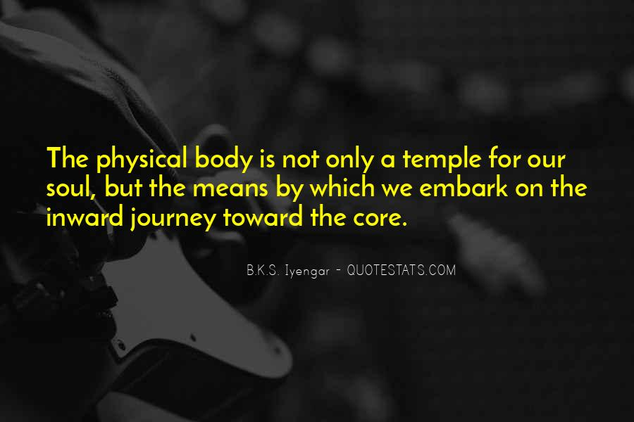 Your Body's A Temple Quotes #307776