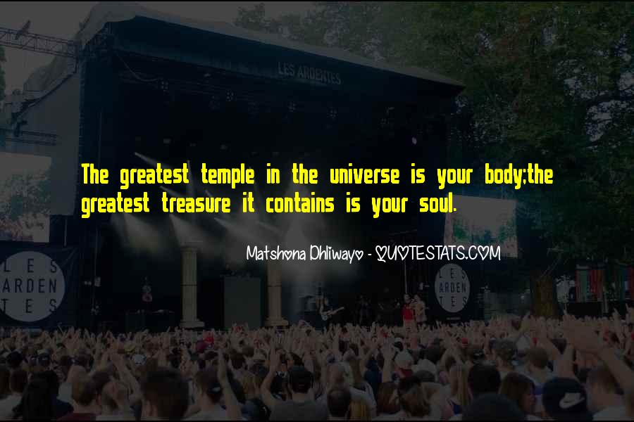 Your Body's A Temple Quotes #938386