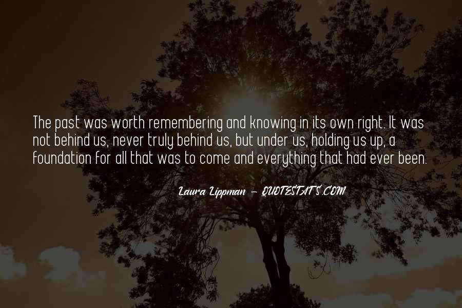 Quotes About Not Remembering The Past #1363467