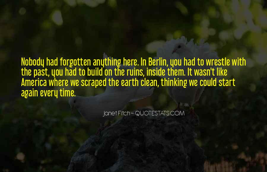 Quotes About Not Remembering The Past #18306