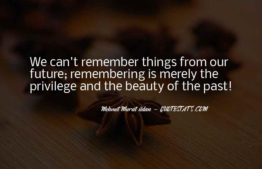 Quotes About Not Remembering The Past #24977