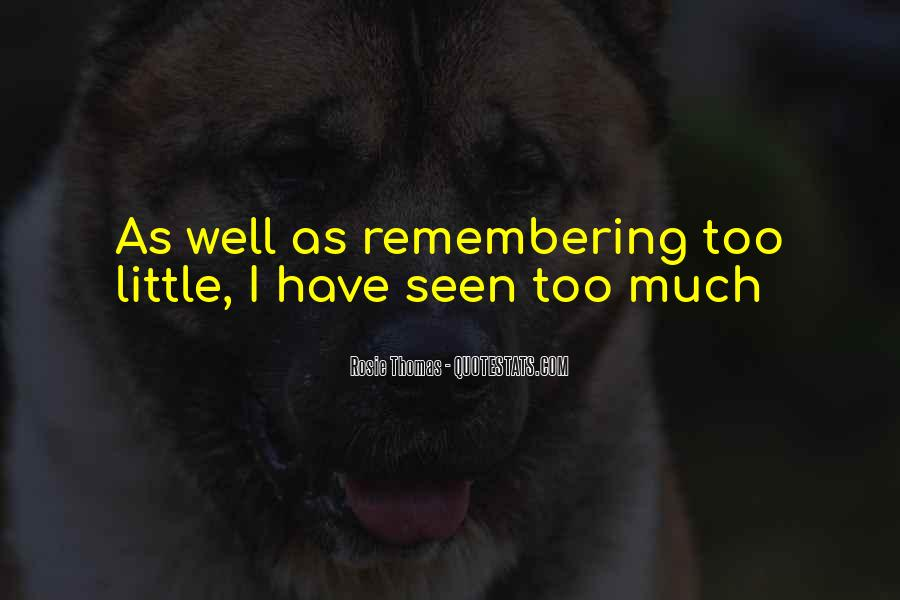 Quotes About Not Remembering The Past #61948