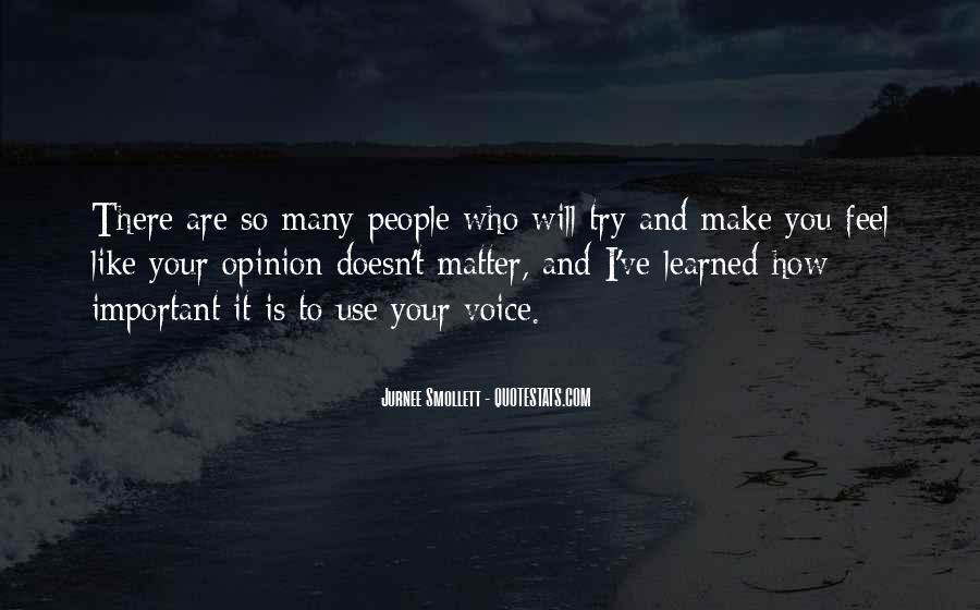 Your Voice Is Important Quotes #120366
