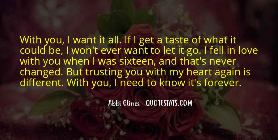 Yours Forever Love Quotes #9296