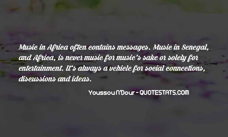 Youssou N'dour On Quotes #453707