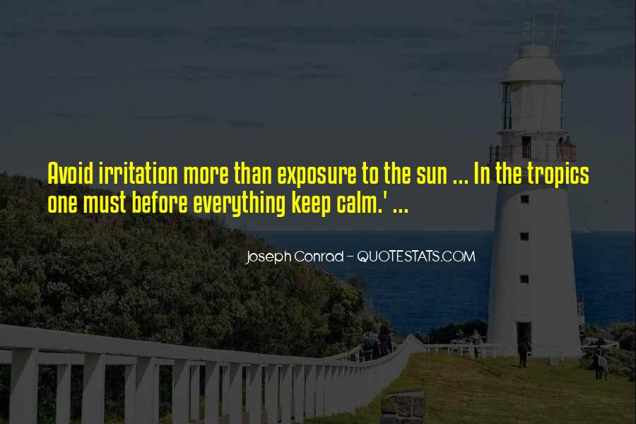 Quotes About Sun Exposure #1508405