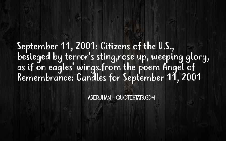 9/11/01 Remembrance Quotes #805235