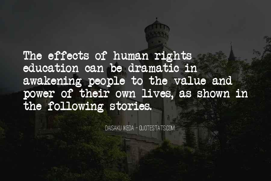 Quotes About Human Rights Education #1156484