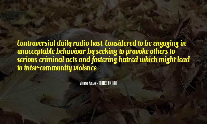 Quotes About Violence And Hatred #679052