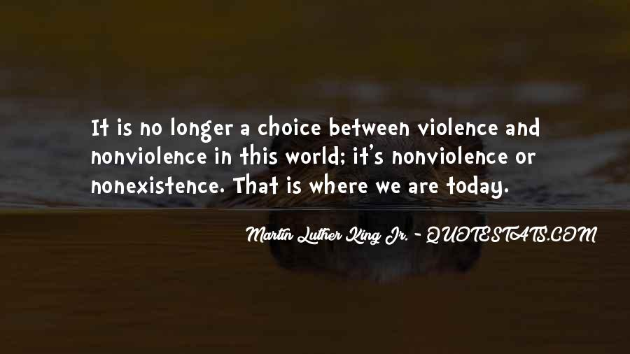 Quotes About Violence And Nonviolence #1118806