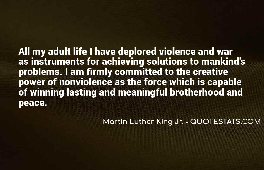 Quotes About Violence And Nonviolence #1306952