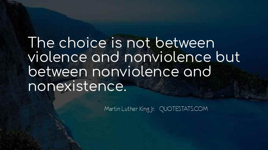 Quotes About Violence And Nonviolence #39864