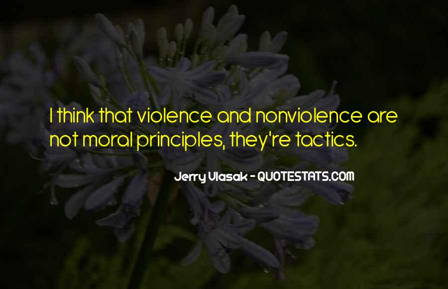 Quotes About Violence And Nonviolence #516921