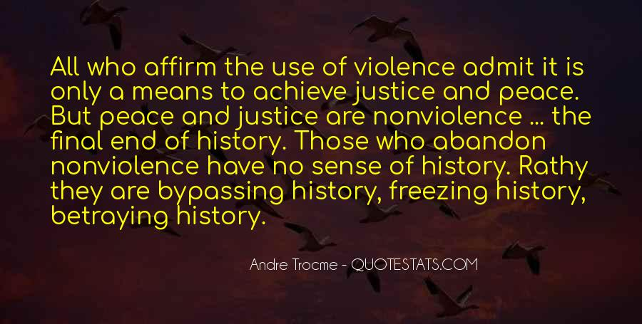 Quotes About Violence And Nonviolence #523637