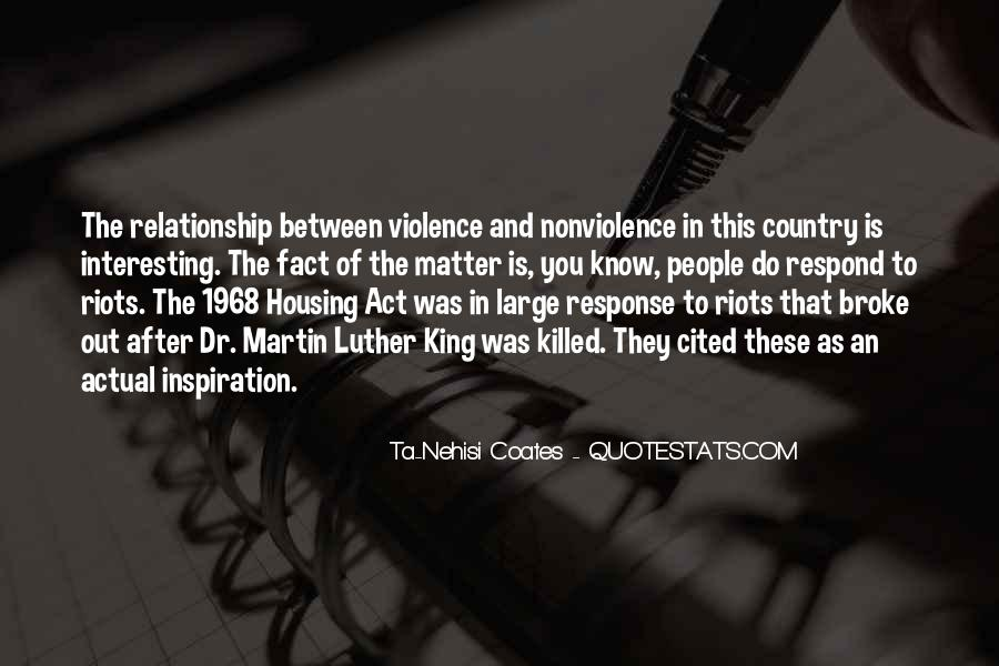 Quotes About Violence And Nonviolence #551026