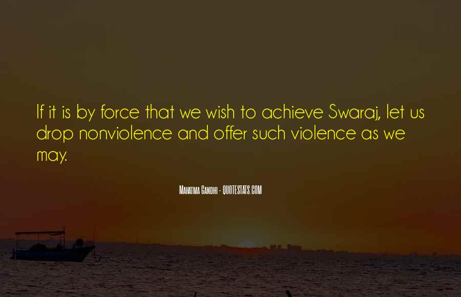 Quotes About Violence And Nonviolence #632339