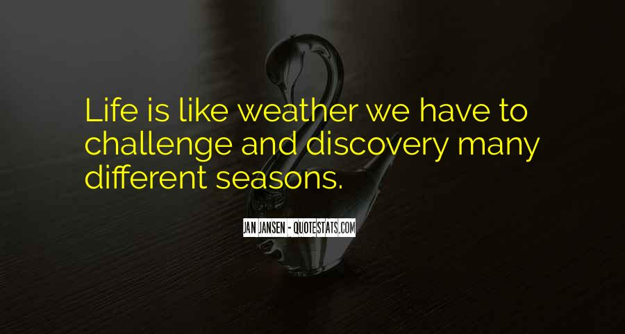 Quotes About Weather And Life #1052166