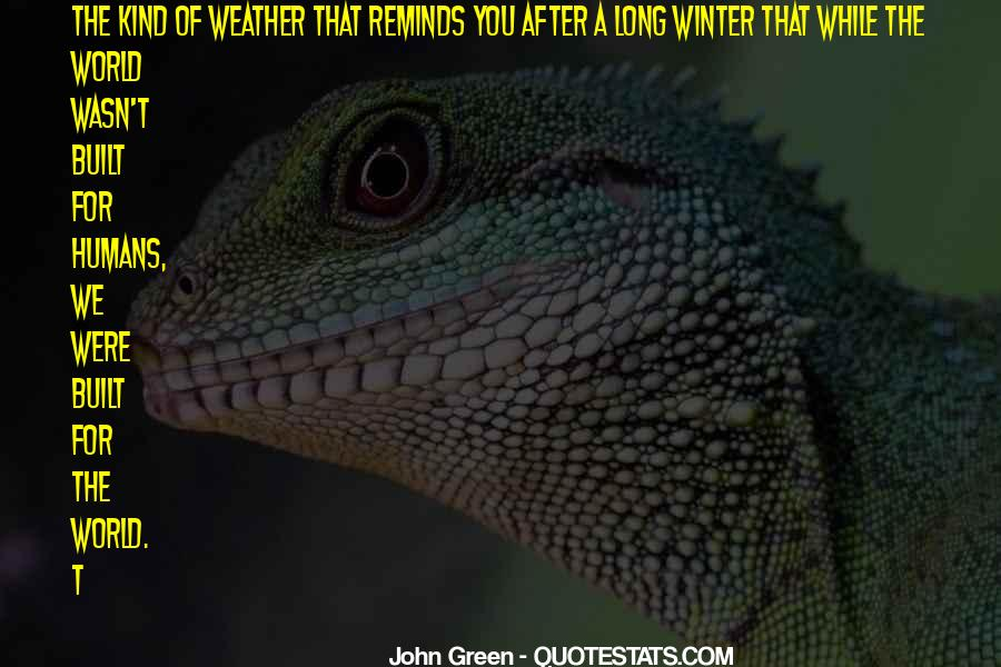 Quotes About Weather And Life #1370110