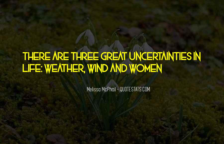 Quotes About Weather And Life #1461484