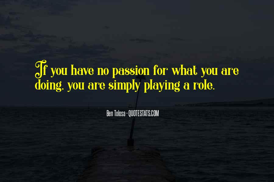 Quotes About What You Are Doing #100993