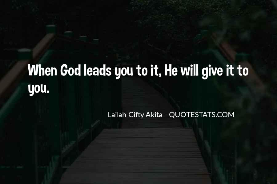 Quotes About Where God Leads You #185792