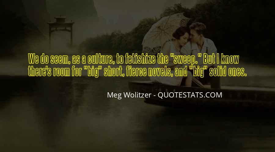 Quotes About Wolitzer #626537