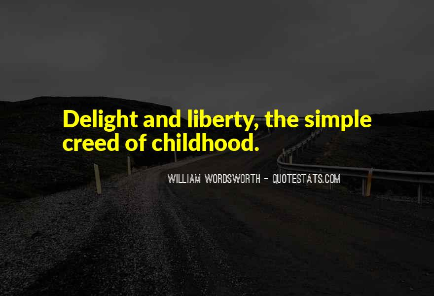 Quotes About Wordsworth Childhood #1289936