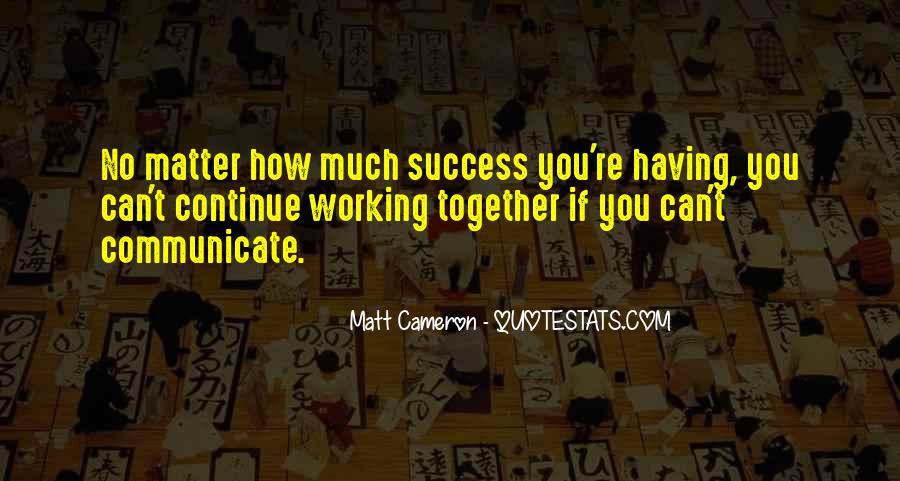 Quotes About Working For Your Success #161344
