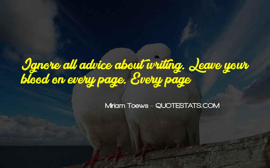 Quotes About Writing Advice #275392