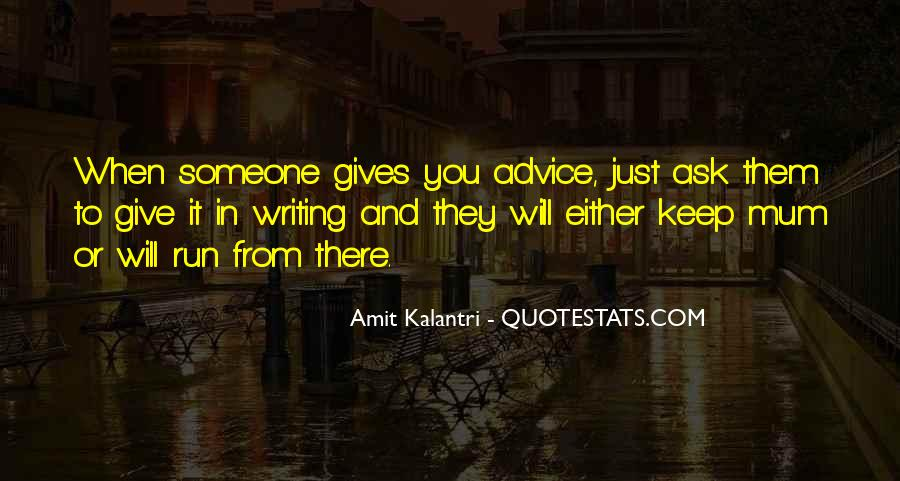 Quotes About Writing Advice #283976