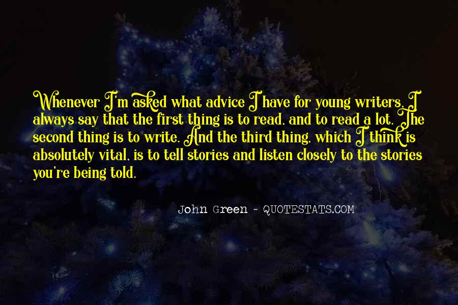 Quotes About Writing Advice #342150
