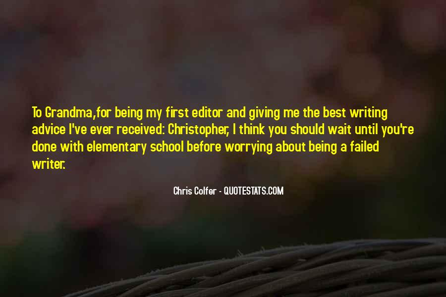 Quotes About Writing Advice #346358