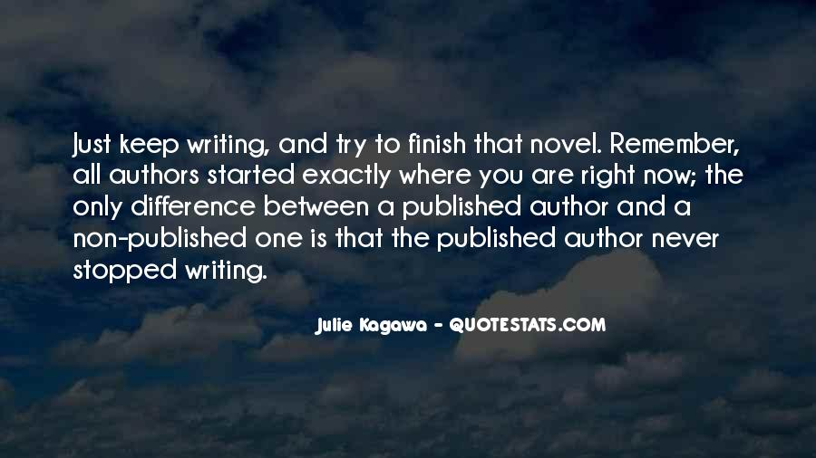 Quotes About Writing By Authors #158909