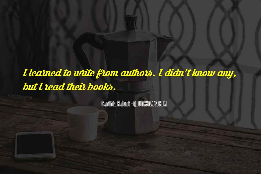 Quotes About Writing By Authors #209318