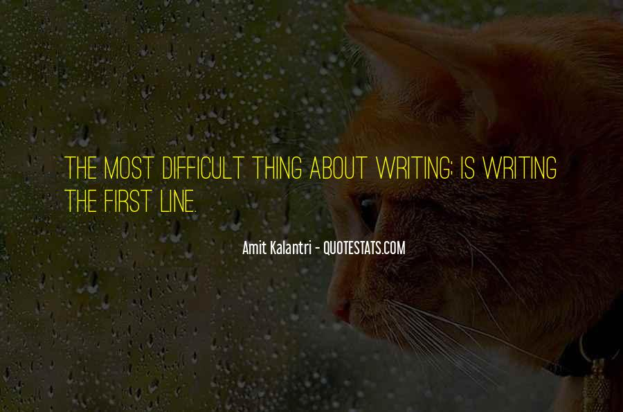 Quotes About Writing By Authors #96786