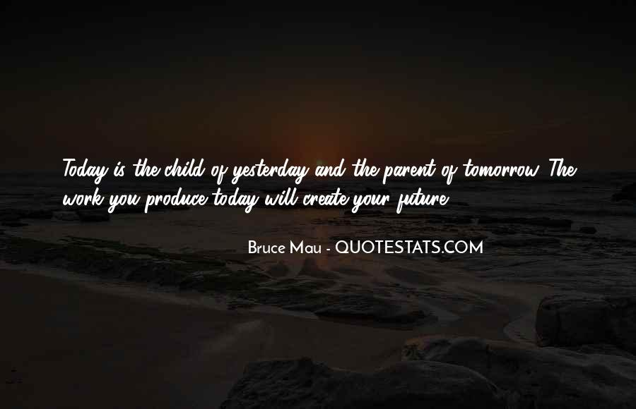 Quotes About Yesterday And Future #397888