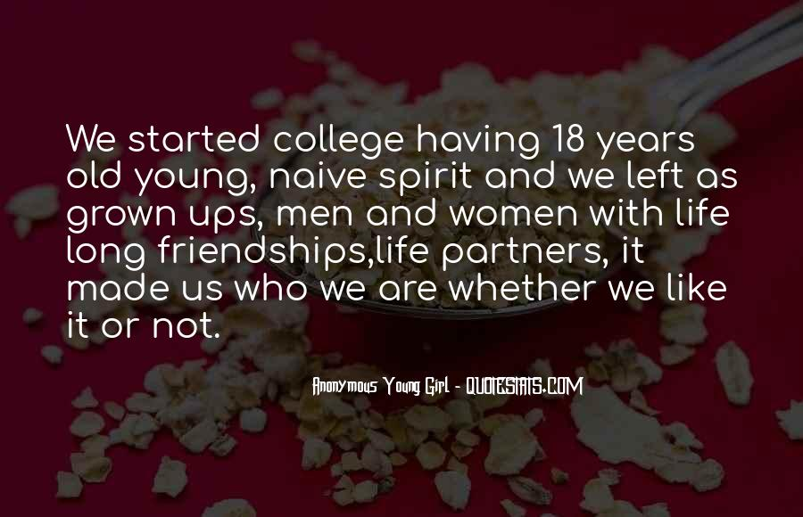 Quotes About Young Friendship #361824