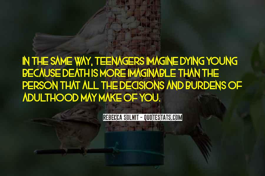 Quotes About Young Person Dying #1266788