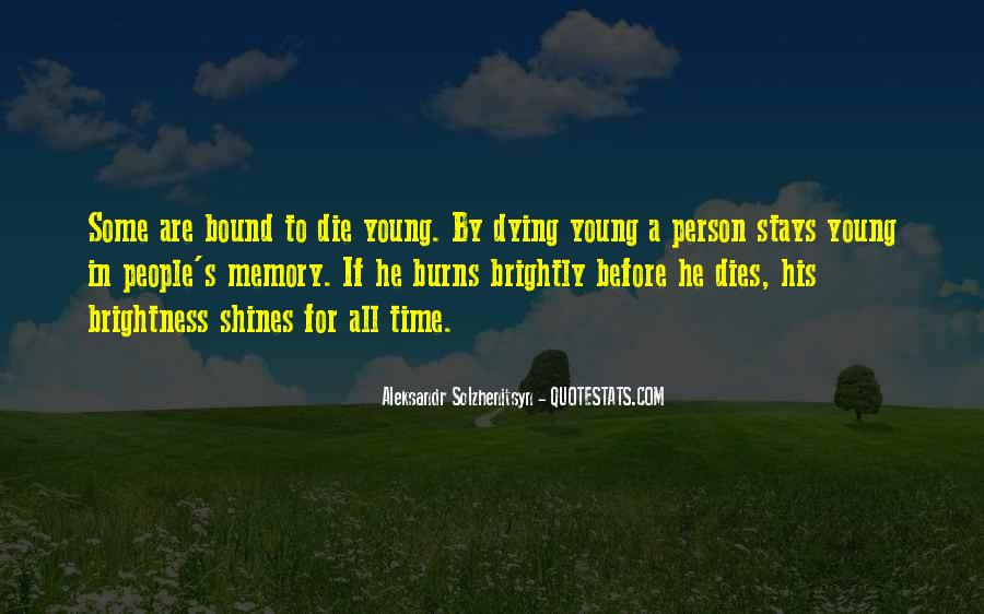Quotes About Young Person Dying #1823508