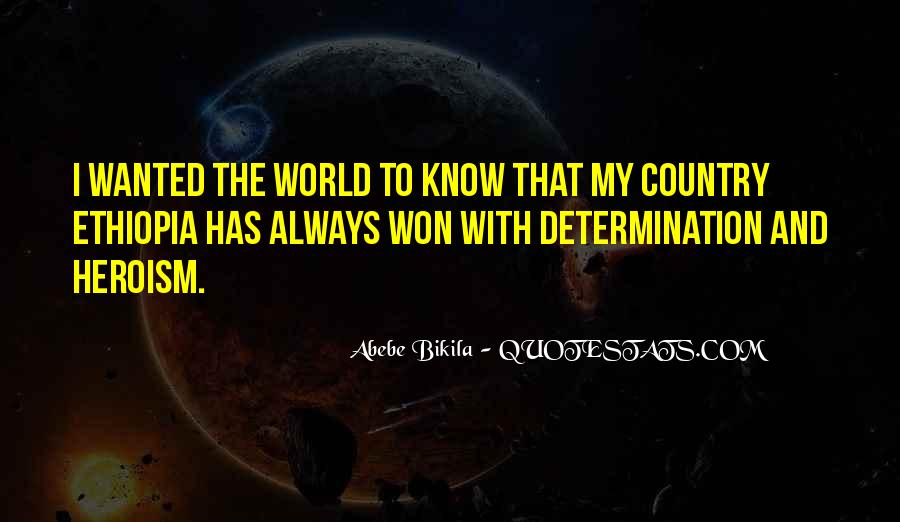 Abebe Bikila Quotes #1863712