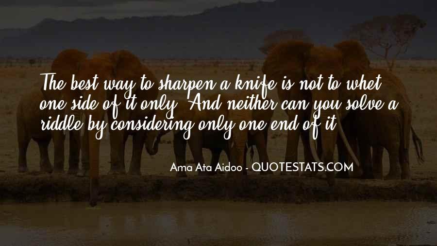 Ama Ata Aidoo Quotes #513791